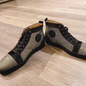 Christian Louboutin dark blue  Crystal Sneakers